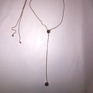 Kendra Scott Tomon Necklace Rose Gold Maroon Jade